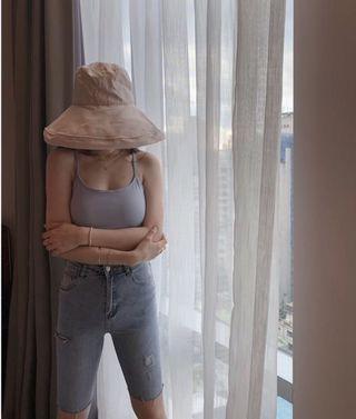 奶茶色防曬帽