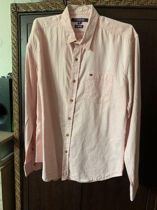 Ocean Line Men Casual Soft Peach Shirt