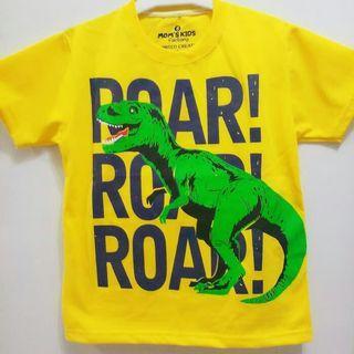 Kaos anak Dino 1 - 6 tahun