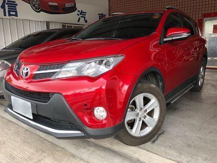 2013年 TOYOTA(豐田) RAV4 2.5 E版  全車原漆原鈑件 新車買到現在都在原廠保養 里程保證實跑8.3萬公里左右
