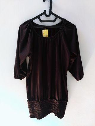 #VISITSINGAPORE dark brown blouse