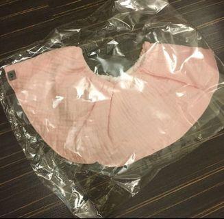 韓系小公主圍脖口水巾(粉色)