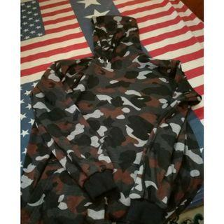 Sweater hoodie camouflage army