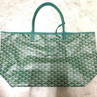 <二手良品> Goyard St. Louis GM 購物包 袋 綠色