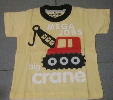 Kaos anak crane 4 tahun