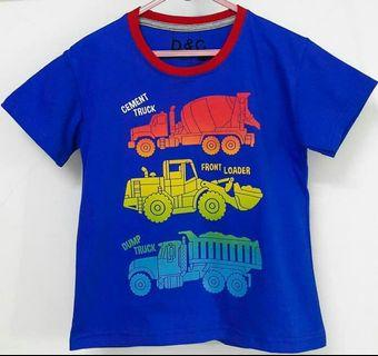 Kaos anak truck 8 tahun