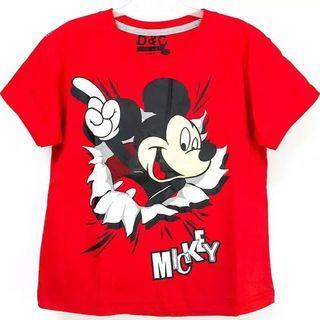 kaos anak Mickey 10 tahun
