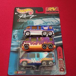Hotwheels GMC motorhome mainline & nascar