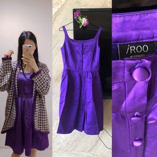 全新原價兩千多)iroo香檳紫洋裝💜