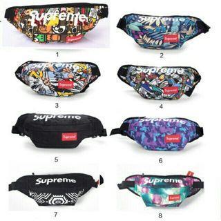 promo! [READY STOK 40 DESIGN]1-17  Unisex Supreme Sling bag Chest Bag Waist Bag