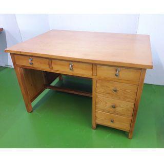 【朽木的工作室】台灣檜木辦公桌-整片板