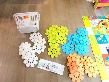 【Weplay】超大型雪花拼拼樂-56片(STEAM玩具)