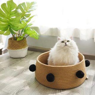全新寵物窩貓窩(棕色)