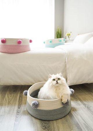 全新寵物窩貓窩(白灰)