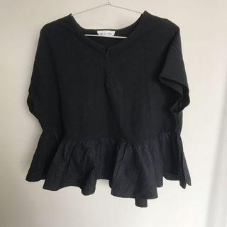 Black Peplum Top This Is April