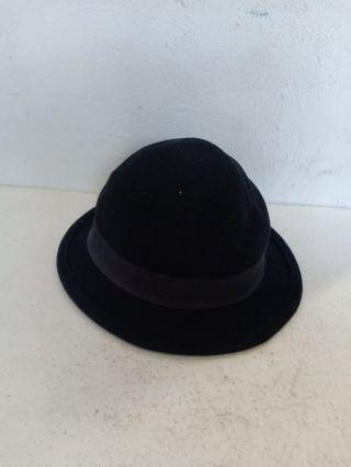 Divided by H&M Black Wool Fedora Hat