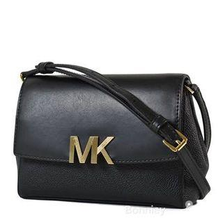 Michael kors 金字 mk logo 荔枝紋 斜背包