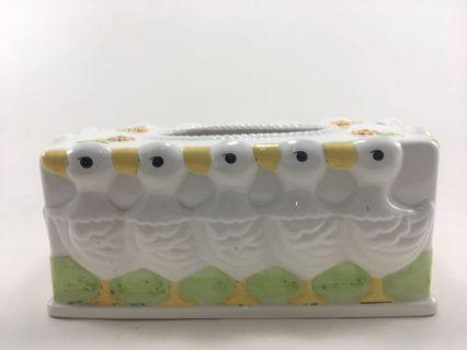 Duckies in garden tissue box  impor