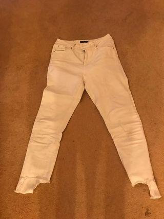 White Glassons jeans