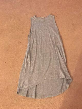 Grey slip dress