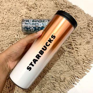 ORIGINAL 100% Starbucks tumblr White gold Grande size 16 fl oz/ 473 ml