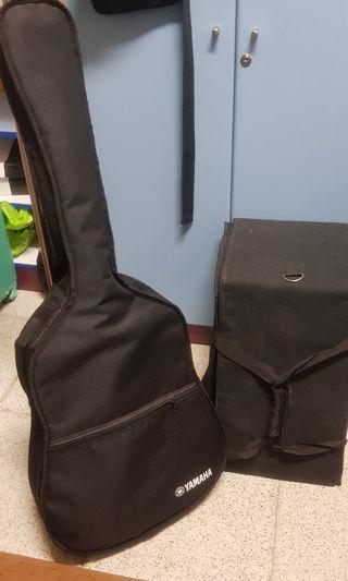 Guitar Yamaha and Cajon Acoustic set
