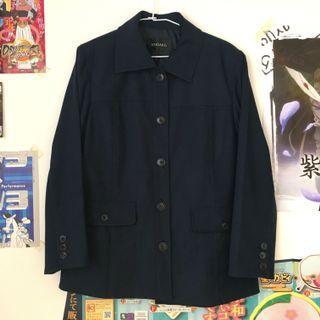 日本古著🇯🇵深藍色水洗工作古著外套 襯衫外套 翻領外套