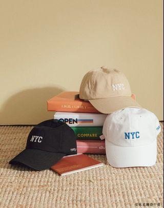 NYC 帽 (奶茶色)韓國🇰🇷