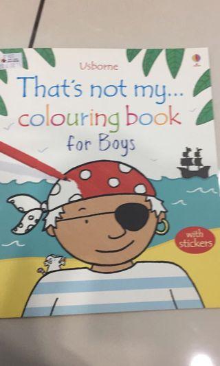 Usborne Boys coloring book