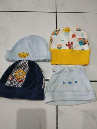 Topi Baby newborn ambil semuanya 4pcs Rp 15.000 saja #visitsingapore