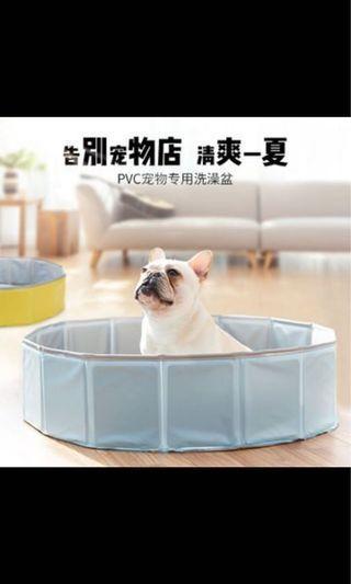 狗狗洗澡盆寵物浴缸泳池貓咪可折疊浴盆中大型犬轉喲游泳泡澡用品