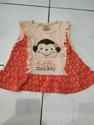 Baju Anak atasan kutung bahan katum tebal tapi adem #visitsingapore