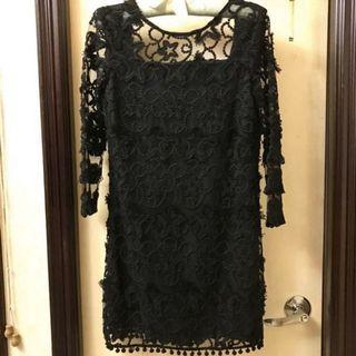 New Bare back Embroidery dress