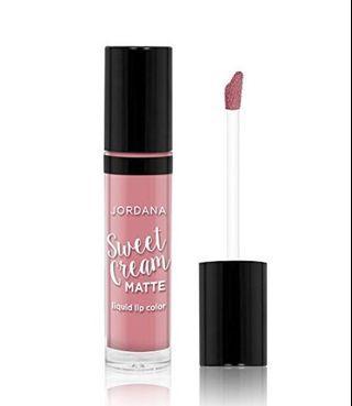 Jordana Sweet Cream Matte Liquid Lipcolor - Creme Brulee (01) #visitsingapore