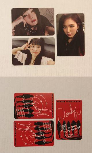 Red Velvet Seulgi & Wendy Photocards
