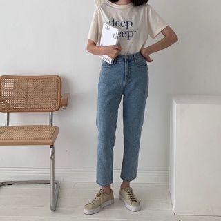 nuhi🇰🇷韓國連線 每天可以穿的中藍褲/s