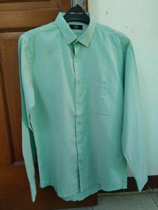 Men Formal Green Shirt