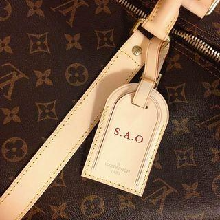 LV LUGGAGE TAG + STAMP