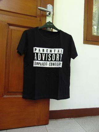 Parental Advisory Black Tshirt