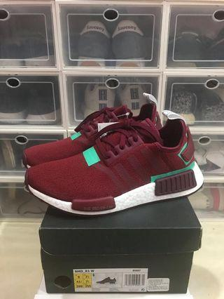 Adidas NMD R1 - Collegiate Burgundy Hi-Res Green
