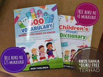 Belajar bahasa Inggeris dalam bahasa Melayu?  Sesuai untuk anak-anak sekolah rendah hingga dewasa. Anak mudah faham dan cepat belajar.  Percuma buku 48 m/s Children's Visual Dictionary (terhad)   Nak?