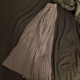 超仙灰色百摺長裙