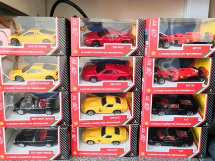 BURAGO 1/43 FERRARI MODEL DIECAST SHELL V-POWER LIMITED EDITION COLLECTION CAR TOYS