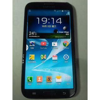 三星SAMSUNG GALAXY Note II 5.5吋四核心智慧手機 3G 4G 皆可用,功能都正常,只賣1500元
