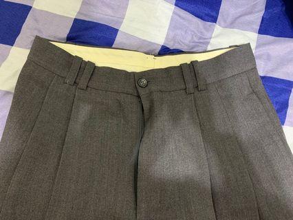 灰色男西裝褲