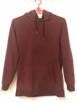 Red plain hoodie