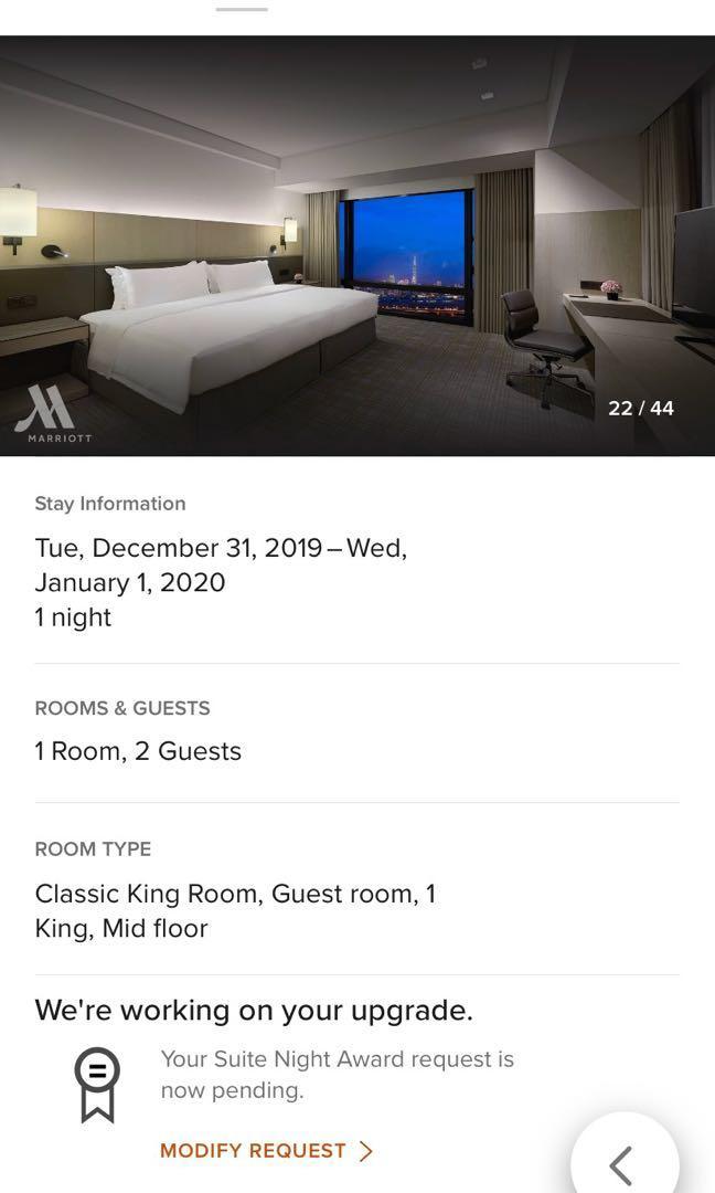 2020跨年 台北大直萬豪 Taipei Marriott 2019/12/31 面101看煙火房