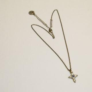 PRE💙D The Vatican Library Collection - Silver Tone Blue Cross Pendant Necklace