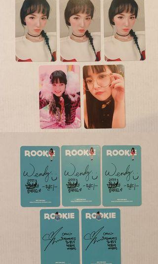 Red Velvet Rookie Wendy & Yeri Photocards