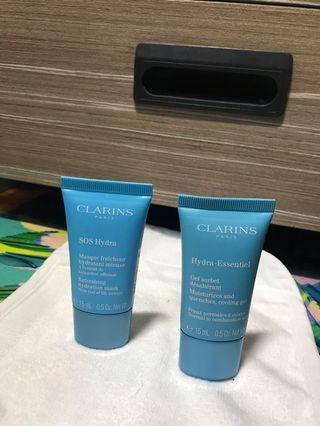 Clarins mask + moisturiser